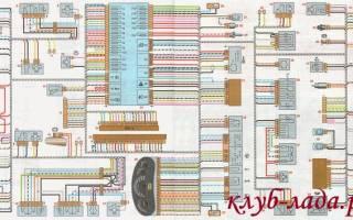 Схема подключения датчика скорости калина