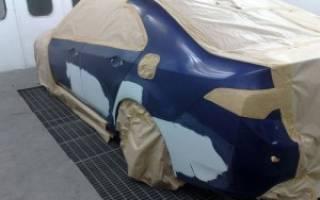 Частичная окраска деталей автомобиля