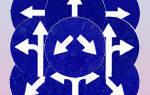 Круглый синий знак с белой стрелкой направо