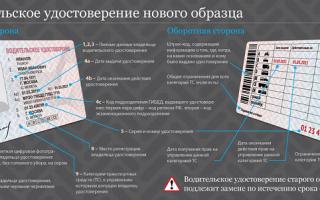 Права водительские расшифровка граф