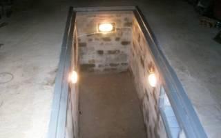 Освещение смотровой ямы в гараже своими руками