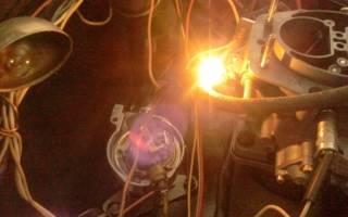 Регулировка зажигания по лампочке