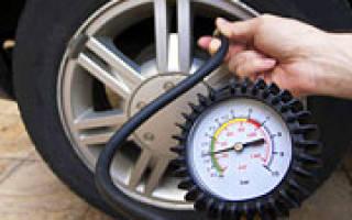 Рекомендуемое давление в шинах автомобиля летом таблица