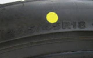 Точки на шинах обозначения