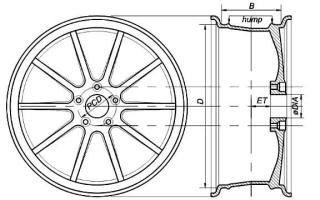 Размер между отверстиями на дисках ваз