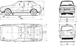 Контрольные точки геометрии кузова ваз 2109