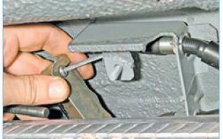 Регулировка стояночного тормоза приора