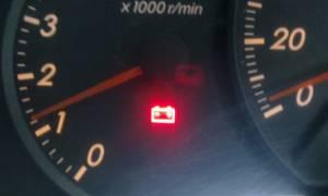 Не гаснет контрольная лампа зарядки аккумулятора