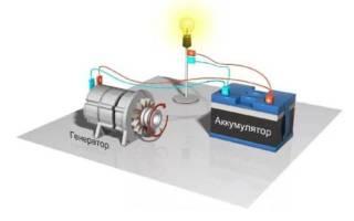 При запуске двигателя горит лампа аккумулятора