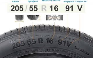 Расшифровка цифр на колесах