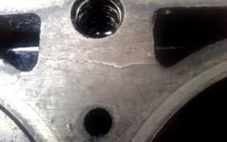 Трещина на блоке двигателя чугун что делать