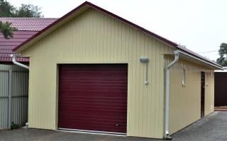Ширина гаража на 1 машину в доме