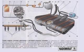 Схема топливной системы ваз 2114 инжектор